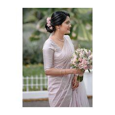 Christian Wedding Dress, Christian Bridal Saree, Christian Bride, Christian Weddings, White Saree Wedding, Wedding Sarees, White Bridal, Wedding Gowns, Unusual Wedding Dresses