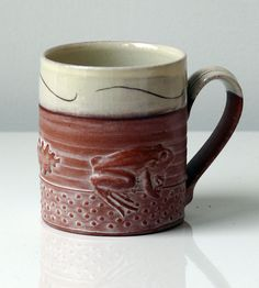 another of philip wood's well crafted sprigged mugs.