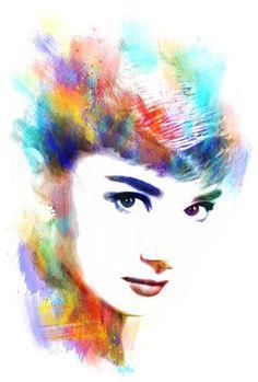 Audrey Hepburn Art Print by Michael Akers | Society6