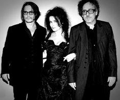 Johnny Depp, Helena Bonham Carter & Tim Burton