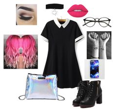 """""""Scene"""" by astewart224 on Polyvore featuring WithChic, Lime Crime and castro"""