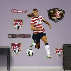 Fathead Alex Morgan Wall Decals - 16833624 - Overstock.com Shopping - Big Discounts on Fathead Wall Decals