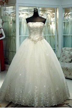 2015 New White/Ivory Wedding Dress Bridal Gown Custom Plus Size 6-8-10-12-14-16+