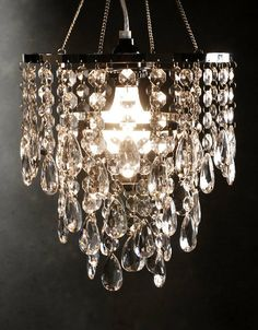 Crystal Pendant Chandelier by ButterStickBakeShop on Etsy, $78.00