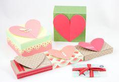 Free Valentine Gift Card Holder (Heart Top Box) Templates (PDF & .studio)