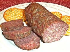 Homemade Summer Sausage (closes match to Mom's recipe) Jerry said it was 5# of meat he did not mention Red Pepper Flakes but the curing time is on point with what we talked about.