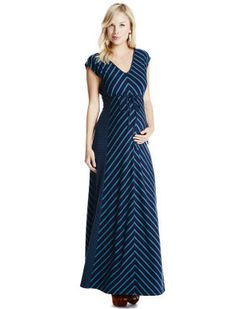 Spaghetti strap maternity maxi dress