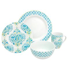 Table Settings that I just bought at Kroger on sale cheap... Trying to decide if I love it or not. Dena Designs Home Johara