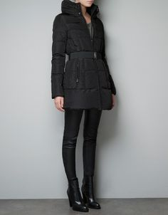 QUILTED JACKET WITH BELT - Coats - Woman - ZARA Canada