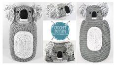 CROCHET PATTERN  Koala Newborn Hat & Cocoon Pattern UK