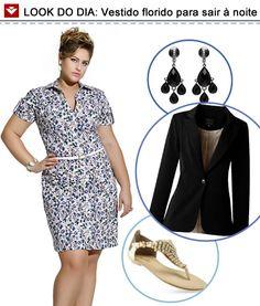 Vestido florido versátil: você por ir ao trabalho com ele e depois incrementar a produção para obter um look noturno! Dica: invista no preto e no dourado! ;)