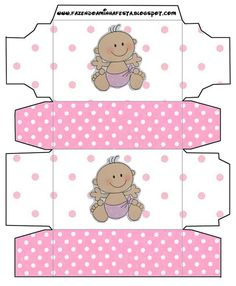 First Year of Minnie with Polka Dots: Free Printable Boxes. Minnie Mouse Birthday Decorations, Minnie Mouse 1st Birthday, Minnie Mouse Party, Minnie Baby, Baby Disney, Printable Box, Printables, Imprimibles Baby Shower, Baby Shower Clipart