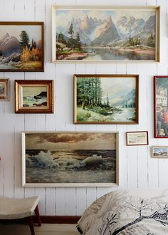 I love the idea of a painted landscape wall <3 Transport to other places. Crush Cul de Sac