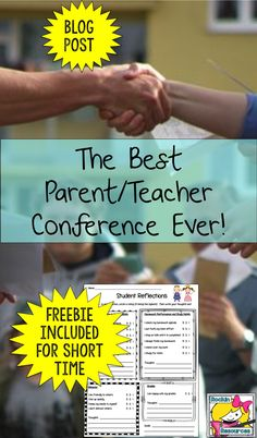 The Best Parent Teacher Conference Ever- this post will give you great ideas to make your conference a happy one! The Best Parent Teacher Conference Ever- this post will give you great ideas to make your conference a happy one! Parent Teacher Meeting, Parent Teacher Communication, Meet The Teacher, Family Communication, Parents Meeting, Elementary Teacher, Elementary Schools, Upper Elementary, Student Led Conferences