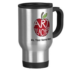 Art Teacher Red Painted Apple Mug  Click on photo to purchase. Check out all current coupon offers and save! http://www.zazzle.com/coupons?rf=238785193994622463&tc=pin