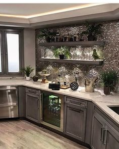 "53.1k Likes, 489 Comments - Interior Design & Home Decor (@inspire_me_home_decor) on Instagram: ""Her whole house is gorgeous! But her wet bar is serious basement inspo! @sumhouse_sumwear"""