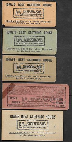 Back of Des Moines (Iowa) City Railway transfers