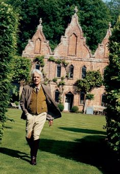Haslam at the Hunting Lodge, his country house, in Farnham, England.