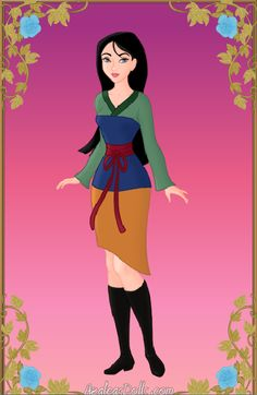 Mulan at Disney High ~ azaleasdolls.com