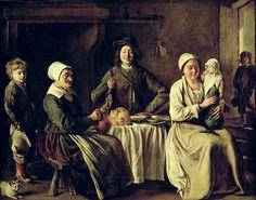 Louis Le Nain- Happy Family- 1642