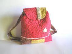 Tribal  Hungarian traditional Kid backpack  Handmade by Crearts.