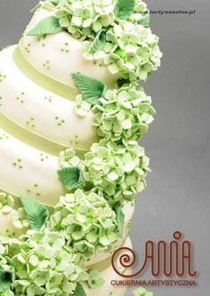 Green wedding cakes CUKIERNIA ARTYSTYCZNA