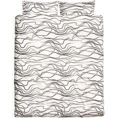 H&M Duvet set double (63 CAD) ❤ liked on Polyvore featuring home, bed & bath, bedding, duvet covers, patterned bedding and h&m