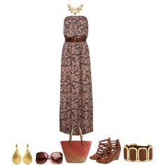 Style Your Favorite Maxi Dress by angela-windsor on Polyvore