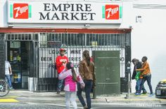 People In Front Of The Empire Market In The Tenderloin,  San Francisco By Mitchell Funk   www.mitchellfunk.com