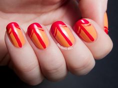 Fiery French Manicure. Get more details