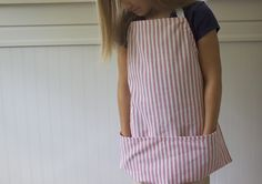Simple Dishtowel Aprons. I might even add names or other embellishments to customize each apron.