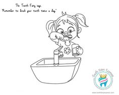 teeth brushing coloring pages - tooth fairy coloring page pinteres