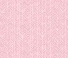 Featherland (pink ground) fabric by leanne on Spoonflower - custom fabric