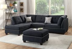 Bobkona Viola Reversible Chaise Sectional