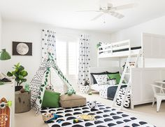 Leila Lewis recently made over her kids' bedrooms with Target's Pillowfort collection & they're so CUTE! We're sharing the outdoorsy playroom perfect for boys today! Kids Bedroom Furniture, Kitchen Furniture, Luxury Furniture, Antique Furniture, Modern Furniture, Bedroom Boys, Childs Bedroom, Kid Bedrooms, Furniture Stores
