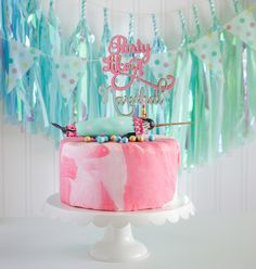 """Narwhal cake from a """"Party Like a Narwhal"""" Birthday Party on Kara's Party Ideas 