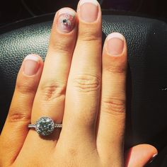 Got my nails done and now I'm ready for some sun! 💅🏽🏖☀️👸🏽➡️👸🏾 #vacation #engaged #frenchmanicure #vacationmode #engagementring #martinflyer #flyerfit #smythjewelers