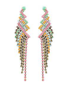 Zig Zag Drape Earrings
