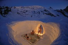 Igloo Villages re-built each year