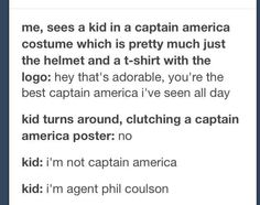 Ahaha this kid knows what's up :p Marvel. Dc Memes, Marvel Memes, Marvel Avengers, Marvel Comics, Avengers Memes, Marvel Funny, Captain Marvel, Captain America Poster, Captain America Costume