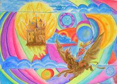 Fantasy Art Original Painting watercolor by JannaChaykaGallery, $140.00