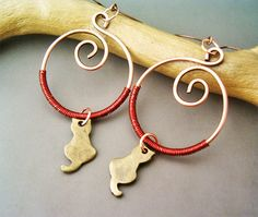 Hey, I found this really awesome Etsy listing at https://www.etsy.com/ru/listing/160705081/circle-earrings-copper-and-brass-cats