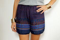 DIY Scarf Print Shorts by apairandaspare, via Flickr