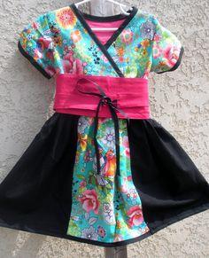 4T Paradise Kimono dress. $35.00, via Etsy.