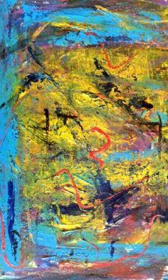 Astratto pregio cozzani dipinto espressionismo astratto materico Colore vivace in Arte e antiquariato, Quadri, Dipinti ad olio   eBay