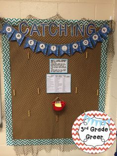 "My nautical classroom ""Catching Great Work"" board! http://www.teacherspayteachers.com/Product/CatchingGreat-Work-Nautical--1348993"