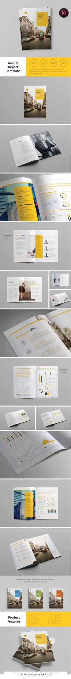 Annual Report Template 	InDesign INDD. Download here: http://graphicriver.net/item/annual-report-template/14860564?ref=ksioks