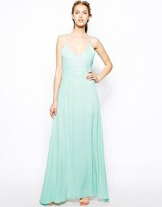 Buy Jarlo Phoenix Maxi Dress With Sheer Detail at ASOS. Get the latest trends with ASOS now. Asos Bridesmaid, Bridesmaid Dresses, Prom Dresses, Formal Dresses, Wedding Dresses, Bridesmaids, 30s Fashion, Fashion Online, Luxury Fashion