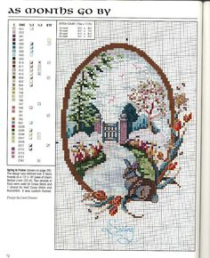 """As Months Go By: Spring"" by Carol Emmer. Free sewing pattern graph."