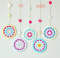Your place to buy and sell all things handmade Crochet Home, Crochet Granny, Hand Crochet, Knit Crochet, Crochet Flower Tutorial, Crochet Flower Patterns, Crochet Flowers, Pinterest Crochet, Crochet Decoration